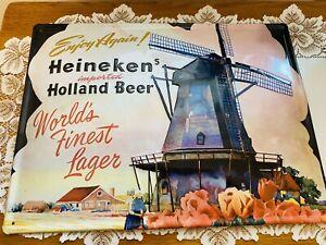 """Heineken Holland Beer Metal Sign 15"""" x11"""""""