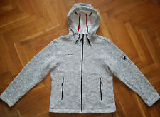 Mammut Iceland Hoodie Strickjacke Wool Blend Warm Lined Jacket Damen Gr. L