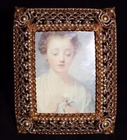 Jay Strongwater PATRICIA Gold, Pearl Picture Frame, Jay's First Swarovski Jewels