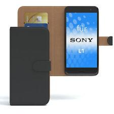 Tasche für Sony Xperia L1 Case Wallet Schutz Hülle Cover Schwarz