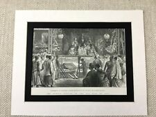 Antique Print Queen Victoria Jubilee Singapore Chinese Theater 19th Century Art