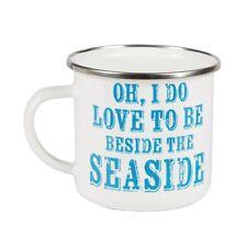 Tazza di smalto-Oh ADORO per essere accanto al mare.