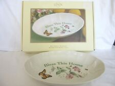 """Lenox Butterfly Meadow """"Bless This Home Tray"""" 10.5"""" aprox"""