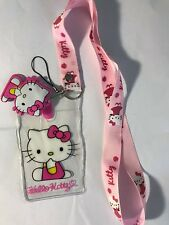 Hello Kitty Lanyard with Name Badge, Cell Phone Strap and Hello Kitty Charm