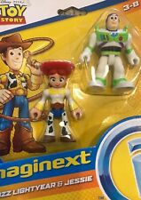 Disney Toy Story Buzz Lightyear & Jessie Play Figures Imaginet New