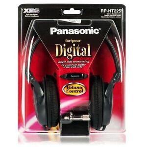 PANASONIC RP-HT225 SMOOTH BASS-RICH HEADPHONES + VOLUME CONTROL & PLUG ADAPTOR
