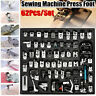62Pcs Presser Foot Press Feet For Brother Singer Domestic Sewing Machine