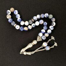 More details for sodalite worry beads genuine gemstone tasbih tesbih prayer subha 512