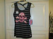 reel legends shirt top fish sport water linnea szymanski nwt medium tank black