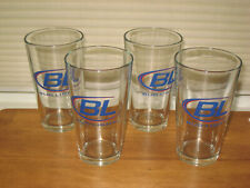 4 Bud Light Beer Glasses