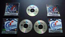 GRAN TURISMO : LOT 2 JEUX Sony PLAYSTATION PS1 PS2 (Platinum COMPLET env. suivi)