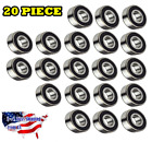 6204-2RS Ball Bearing Dual Sided Rubber Sealed Deep Groove (20PCS)