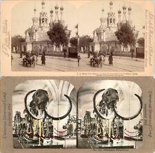 18 Stereofotos Russland Russia Moscow um 1900 Serie 3