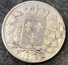 Charles X 5 Francs 1828 W LILLE 24,94 gr