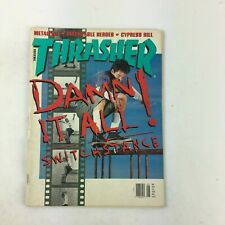 May 1992 Thrasher Magazine Damm It All! Switchstance Metallica Cypress Hill
