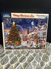 WHITE MOUNTAIN #1287 1000 PC PUZZLE VILLAGE CHRISTMAS TREE NEW Open Box