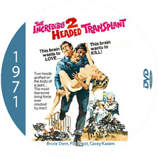 "The Incredible 2-Headed Transplant (1971) Sci-Fi NR CULT ""B"" Movie DVD"