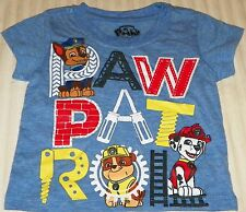 """NEW"" Paw Patrol ~ CHASE Rubble MARSHALL ~ Gray SHIRT Infant Boy's 12M Nick Jr"