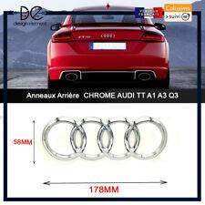 Anneaux Arrière Gris CHROME AUDI TT A1 A2 Q3 Q5 hayon Coffre Badge Logo Emblème