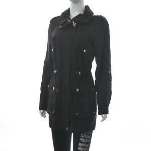 Vero Moda Women's HOLLY PARKA KM SHINY GOLD AC Coat Jacket Rivets Detail Size XS