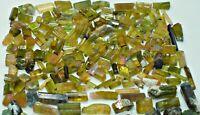 400+ CT Terminated Transparent Greenish Color Rough Tourmaline Crystals lot @Afg