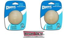Chuckit Max Glow Ball Medium 2pk Pack Dog toy for in the Dark Fetch toy