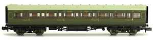 Dapol 2P-012-003 Maunsell Coach SR 1st Class Lined Olive Green 7668 N Gauge