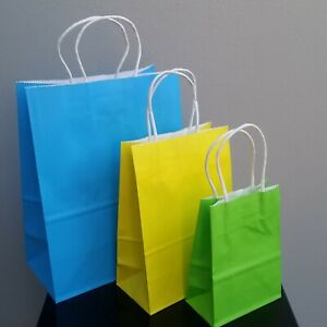 **FREE SHIPPING** Kraft Paper Gift Carry Bags Twist Handles Small Medium Large