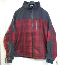 Woolrich Men's Loxley Red/Black Plaid Reflective Logo Removable Hood Jacket 2XL