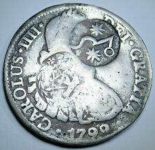 Chilpanzingo Morelos Countermark 1799 Mexico Silver 8 Reales Counterstamp Coin
