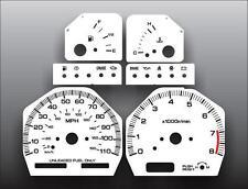 Fits 1991-1994 Nissan 240SX 110 Mph Dash Instrument Cluster White Face Gauges
