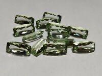 Natural Green Amethyst Cushion Cut Loose Gemstone Lot 13 Pcs 10*20 MM 120 CT