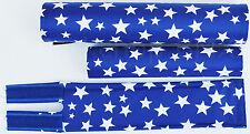FLITE old school BMX bicycle padset foam racing pads STARS - BLUE & WHITE