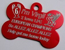 LFC Liverpool League Champions Dog ID Tag Never Walk Alone Personalised