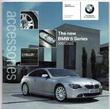 BMW 6-Series Coupe E63 Accessories 2004-05 UK Market Sales Brochure