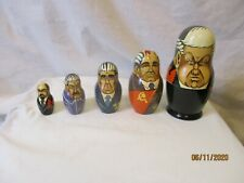 Small Size Matryoshka Nesting Dolls Former Russian Leaders