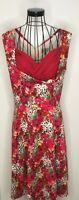 Pretty Lindy Bop Vintage Style Ophelia Red Leopard Print Swing Dress  18 1950's
