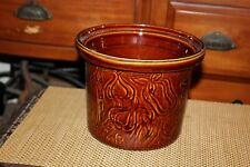 Vintage Farberware Brown Glaze Pottery Crock #266