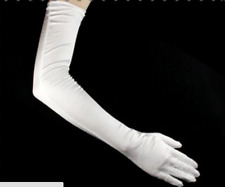 """LADIES LONG 23"""" OPERA EVENING SATIN FINGER GLOVES PARTY DRESS PROM"""