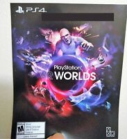 🔥 New PlayStation 4 VR Worlds FULL Game Download Card Sony PS4 PSVR Virtual rea