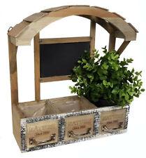Holz Blumenkasten - Deko Pflanzkasten - Retro Blumenregal Kräuterbeet Blumentopf
