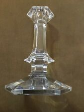 VAL ST. LAMBERT Crystal Candleholder 7 IN. Tall- Etched Signature