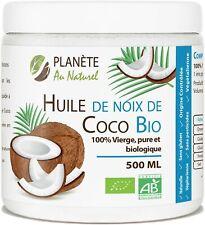 Huile de Coco Bio 100% Vierge Pure cuisine  corps cheveux100% Végan 500 ml