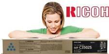 Ricoh GENUINE/ORIGINAL 841666 CYAN/BLUE Toner Printer/Copier Cartridge MP C3502S