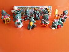 Dapsy Dino Family - Komplettsatz + 4 Beipackzettel - 1997 - Ü-Eier - Ferrero