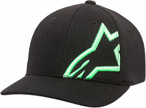 Alpinestars CORP SHIFT MOCK MESH Curve Bill Flex Back Hat/Cap (Black/Green)