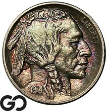 1914-S Buffalo Nickel, Beautiful Gem BU++ Better Date