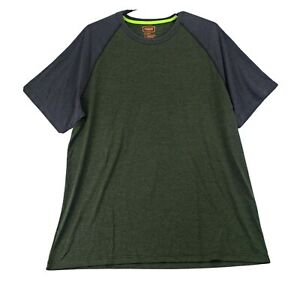 Big & Tall Foundry Mens Performance T Shirt Green Gray 2XLT Heathered Stretch NW