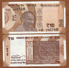 P-60Ac sig Sailboat India ND UNC /> W//H 10 Rupees 86