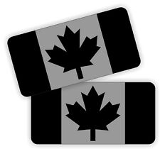 (2) Canada Flag Black Ops Hard Hat Stickers | Motorcycle Helmet Decals CAF Flags